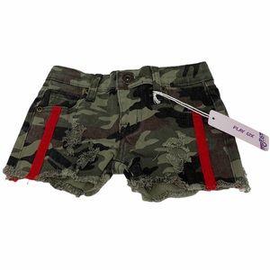 PLAY SIX**Camouflage Denim Shorts**Size 5 $58